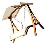 AS-S Design Hollywoodliege Doppelliege 'Aruba' Schaukelliege aus Holz Lärche mit Dach